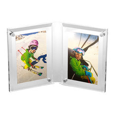 """Double Beveled Lucite Frame, 3.5""""x5"""""""
