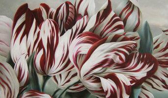 "K. Miller ""Tulips"" oil on canvas"