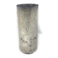 Serene Spaces Living Vintage Style Pewter Cylinder, Large