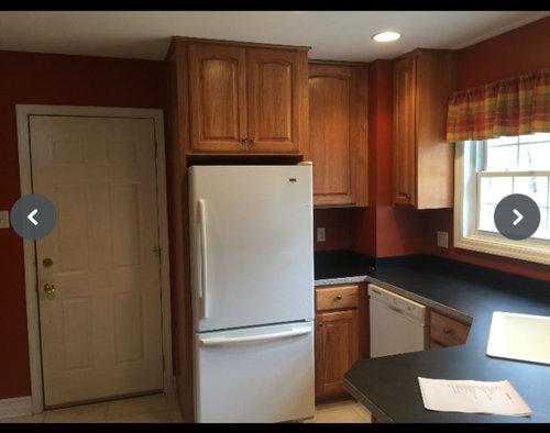 Wall color (BM) for honey oak kitchen cabinets