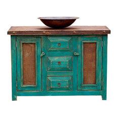 """Rustic Turquoise Vanity, 36""""x20""""x32"""""""