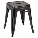 """OSP Home Furnishings - Patterson 18"""" Metal Backless Stool, Orange Solid, Fully Assembled, Set of 4 - Sold As Set of 4"""