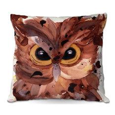 """Screech Owl Throw Pillow, 18""""x18"""""""