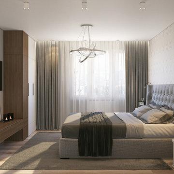 Light pastel bedroom