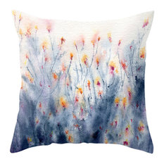 """Decorative Floral Pillow Cover, Wildflowers, 18""""x18"""""""
