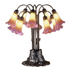Meyda Tiffany Lamps Table Lamp, Mahogany Bronze