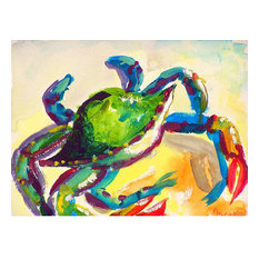 Betsy Drake Teal Crab 30 Inch By 50 Inch Comfort Floor Mat