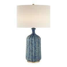 Visual Comfort Lighting Culloden Table Lamp, Pebbled Aquamarine