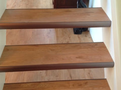 ... To Define Each Stair. Attached Is A Picture. I Saw The Same Thing Done  In The Flooring Showroom But With Risers That Had LVP On Them As Well.
