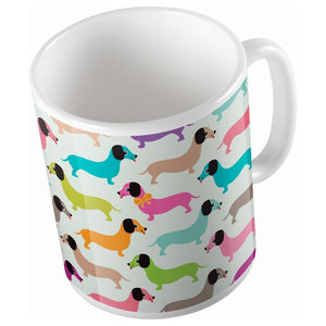 Dachshunds in Colours Mug