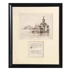 Anton Schutz, Barge Office, Etching