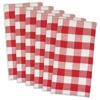 Red/White Check Napkin, Set of 6