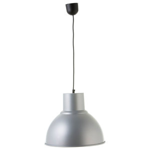 Small Industrial Pendant Lamp, Grey