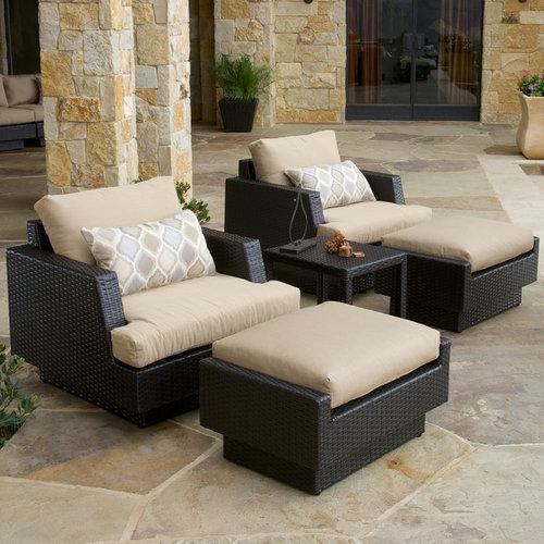 Portofino™ Comfort 5pc Club Chair Set in Espresso - Products - Portofino™ Collection