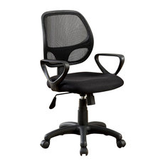 Sherman Contemporary Style Office Chair, Black