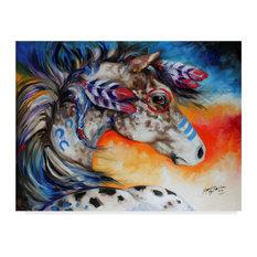 "Marcia Baldwin 'Appaloosa Indian War Horse' Canvas Art, 32""x24"""