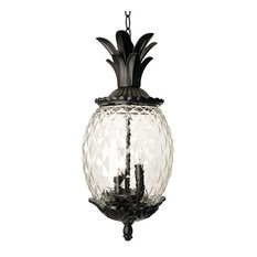 Acclaim Lighting Lanai Collection Hanging Lantern 3 Light Outdoor Light Matte Black