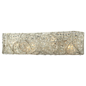 Andalusia 4-Light Bath, Aged Silver