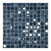"12.5""x12.5"" Dark Blue Iridescent Glass Tile"