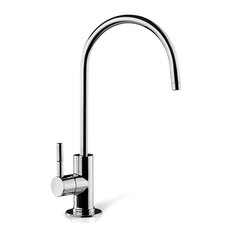 """iSpring 6.5""""x11"""" 14oz Solid Brass Water Filter Faucet, Luxury Chrome"""