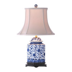 50 most popular porcelain table lamps for 2018 houzz east enterprises inc flowers scalloped porcelain cylinder table lamp blue and white table aloadofball Image collections