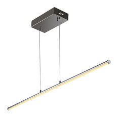 """Conley 39.5"""" Dimmable Adjustable Integrated Led Linear Pendant, Chrome"""