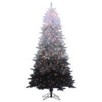 7.55Ft. Vintage Black Ombre Spruce With 600 clear lights, 7.5 Foot