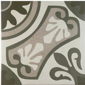 "SomerTile 13""x13"" Olivia Ceramic Floor and Wall Tiles, Gris, Set of 13"