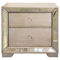 Ava Mirrored Silver Bronzed Nightstand