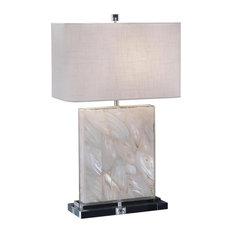 Table Lamp JOHN-RICHARD 1-Light Crystal-Clear White Silver Clear