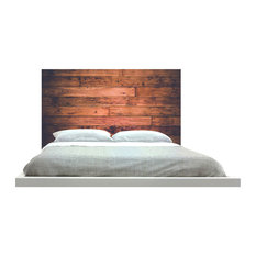 """""""Wood"""" Headboard, Queen, Square, Fabric"""