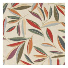 Red, Orange, Gold, Green, Blue, Leaf Contemporary Upholstery Fabric By The Yard