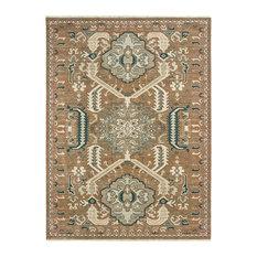 """Oriental Weavers Sphinx Anatolia 2060W Rug, Rust/Teal, 5'3""""x7'6"""""""