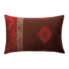 Boiled Wool Toile Pillow A TOILE2, Red
