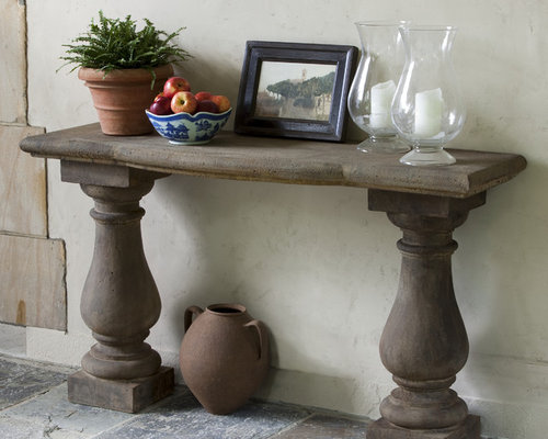 Vicenza Cast Stone Outdoor Console Table