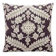 "Nourison Dynasty Grey Pillow 18"" x 18"""