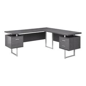 Cosmos Corner Computer Desk Gray Top Reviews Medium Sized Living Room Design Ideas Monday October 15 2018