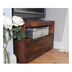 English Beam Industrial Reclaimed Wood TV Cabinet