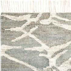 Brikk - Lightning Tasseled Gray Wool Area Rug, 5'x8' - Area Rugs