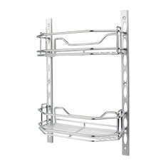 """Deep Door Mounted Tray System Kit, Polished Chrome, 6"""""""