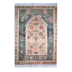 Turkish Area Rug and Floor Rugs, Denizli, 5x7