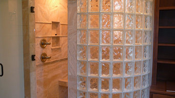 Walk-in Glass Block Shower