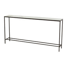 Hayward Console Table Natural Rust Antique Mirror