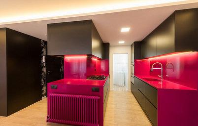Cocina de la semana: Un espacio a todo color ¡con despacho!