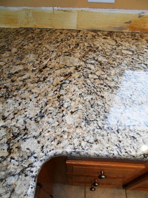 Venetian Ice Granite On Medium Colored Wood   Products