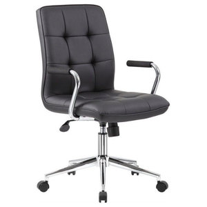 Scranton & Co Chair in Black with Chrome Arms