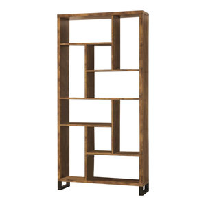Coaster Bookcases Open Bookcase With Different Sized Cubbies