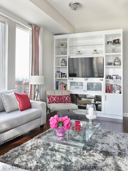 Grey And Pink Living Room Classy City View Condo Living Room Dining Room  Photo Shoot . Part 77