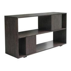 Danville Low Bookcase, Finish: Ebony