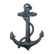 "Seaworn Blue Cast Iron Anchor 17"""
